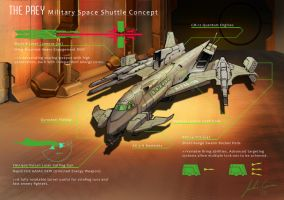 Military Space Shuttle by JECBrush