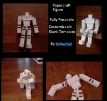 Papercraft Figure Complete W. Instructions by Collecter128