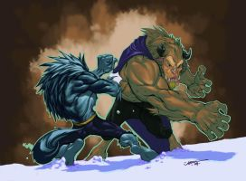 Beast vs Talbain colors by jusdog