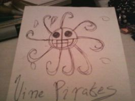 Vine Pirate's Jolly Roger Doodle by CanadianGothStalker