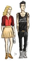 Girly!Annabeth and Punk!Percy by whenpopsucks