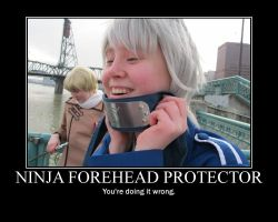 Ninja Headband: Doing it Wrong by Zapheil