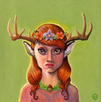 Lady Antlers by dviart