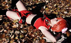 Napping on the fall leaves by vi-ki