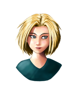 Manga_Girl_Medibang_Blonde by Silmegil