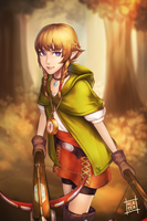 Hyrule Warriors - Linkle by acetea-san