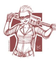 Jillian Holtzmann .Ghostbusters by sexyfairy