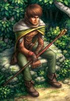 Masen, Half Elf Wizard by AlvinHew