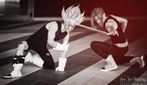 Majin Vegeta and Trunks cosplay by Alexcloudsquall