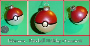 Pokemon - Pokeball Holiday Ornament by YellerCrakka