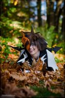 Sora enjoys his leaves by Weatherstone