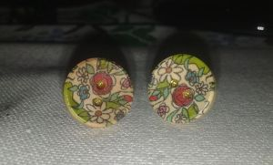 Button Earrings by Erevia