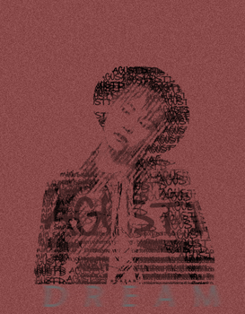 Suga text portrait / dream.. by hhazan