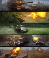 Tanks by JimHatama