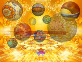 Fractal planets by DoloresMinette