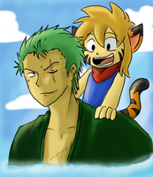 Zoro and Toki by LeniProduction