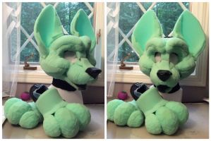 Quilleez fursuit WIP by GoldenCat22