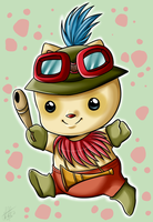 Captain Teemo on Duty by Sweetochii