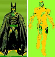Batman and Iron Man yes we can/dollar sign pop art by TheGreatDevin