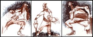 Pastel 3 Minute Gesture Sketches by Cre8tivemarks