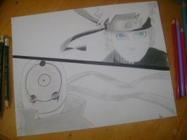 Naruto and Tobi by pipenub