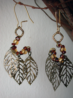 Autumn's Last Earrings (sold) by ArtLoDesigns