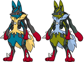 Shiny MegaLucario Dream World by KrocF4
