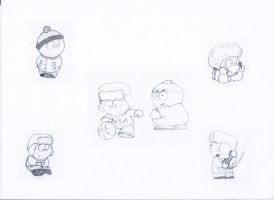 South Park doodles by Eeryl