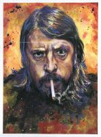 Dave Grohl / Foo Fighters - Watercolor portrait by NateMichaels