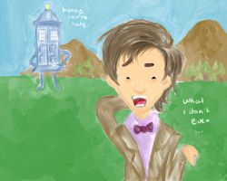 The TARDIS and her Doctor by Midori--hana