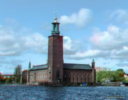 Stadshuset Stockholm Anaglyph by passionofagoddess