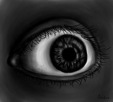 Ojo (intento realista) by AndiiGrr