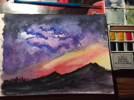 Watercolor starscape by asmand