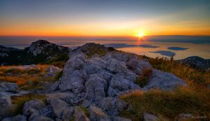 Sunset from Zavizan by MatejBarisic