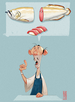 Sushi Master by CamaraSketch