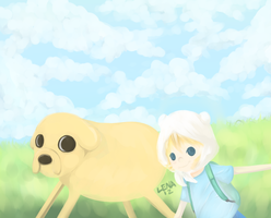 Adventure Time Painting by lenaachan