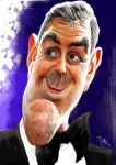 George Clooney caricature by nelsonsantos