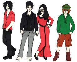 RotG OCs: Temptation, Cupid, Psyche, Pied Piper by punkette180
