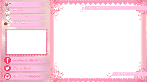 LOL Overlay - White Text with Pink Shadows/Glow by mine22mine