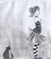 Lady and Cat : independence by wariatka