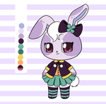Blackberry Bunny Adopt (CLOSED) by Tamatanium