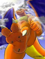 Charizard stomps in color by ArokhTroja