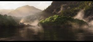 Morning Lake by Dave-DK