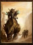 Tauren hunter and pet by sandara