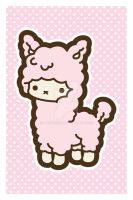 Alpaca Postcard by MasumiChi