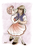 Swing Dance by ArtbyMaryC