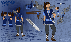 Kayara reference sheet by Jessica3green
