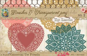 Doily Brushes No 2 by starsunflowerstudio