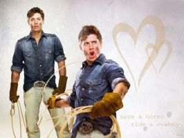 Jensen Ackles cowboy wallpaper by wbetti