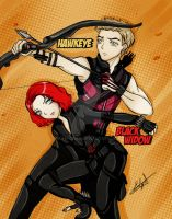 Hawkeye and Black Widow by Eilyn-Chan